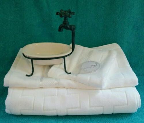 Spa by Kassafina 3 fresh white brick pattern cotton luxury b