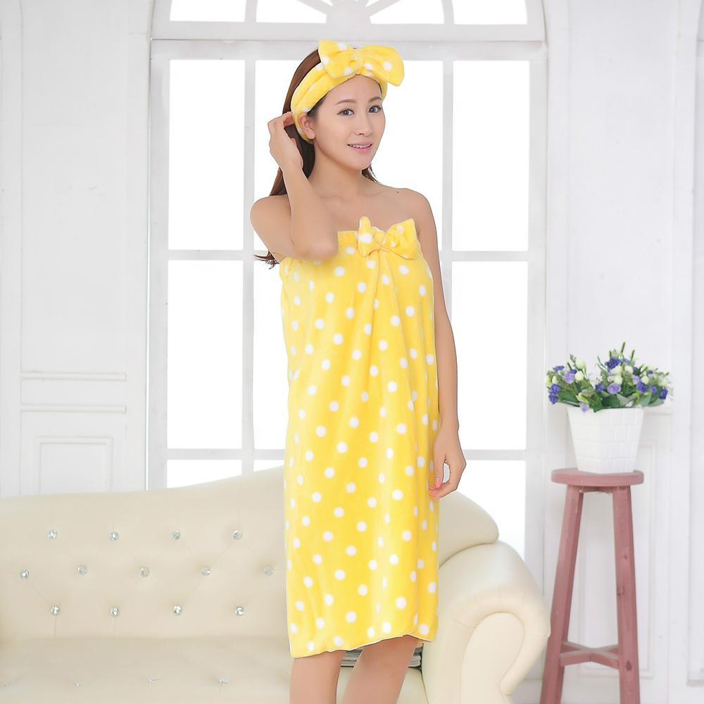 Super Absorbent Sexy Cute Nightgown Skirt <font><b>Towel</b></font> Microfiber Headband Set Adults