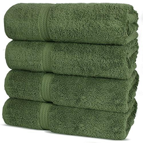 Superior Long-stable Cotton 4-Piece Bath Towels,