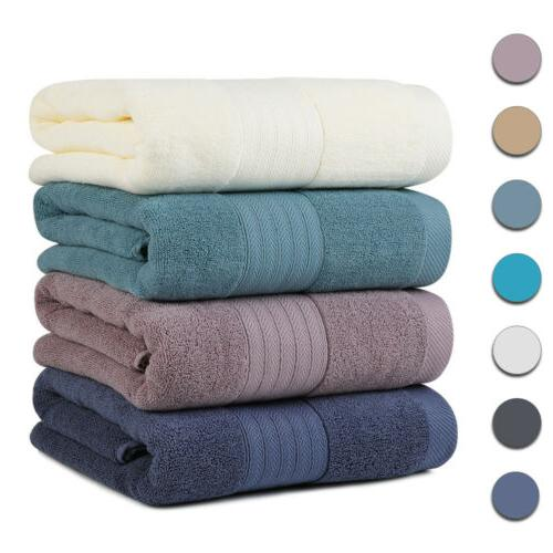thick and plush cotton solid bath towels