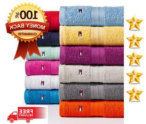 tommy hilfiger bath towel collection 100 percent