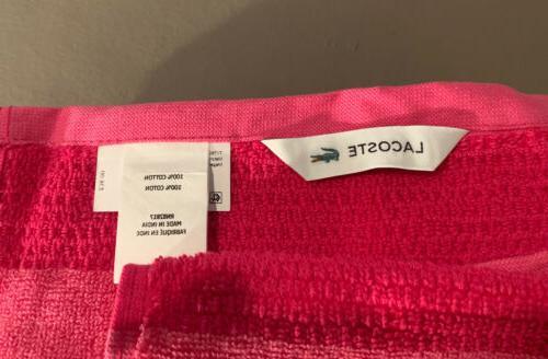 "Lacoste Match Pink Magenta 30"" x 52"""
