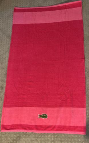"""Lacoste Towel Lot Pink 52"""" Cotton Large"""