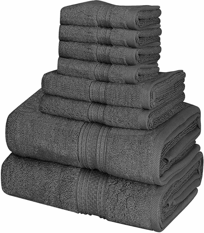 towel set cotton 8 piece 2 bath