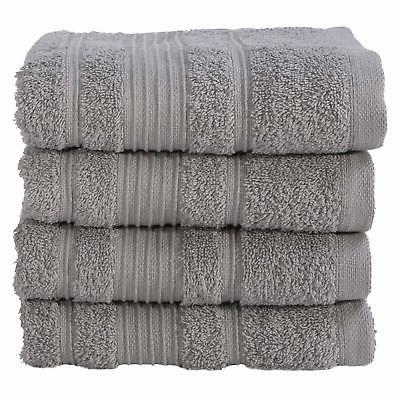 Turkish Cotton Gray Hand Towels Set Soft Absorbent