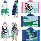 Unisex Children Bath Hooded Towels Cloak Bathrobe Fits Swim