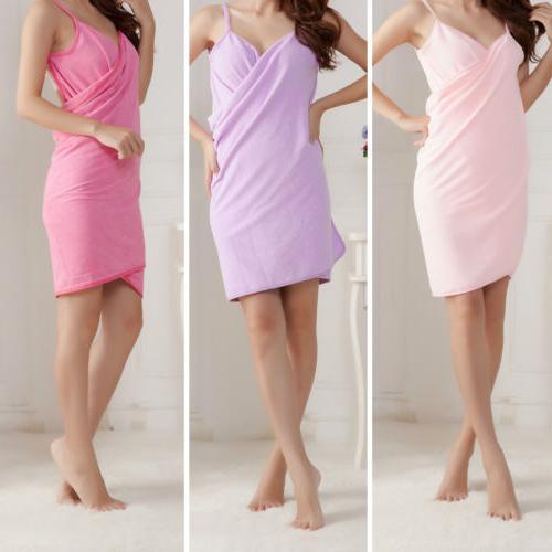 Creative Bath Wearable Towel Dress Girls Women Womens Lady F