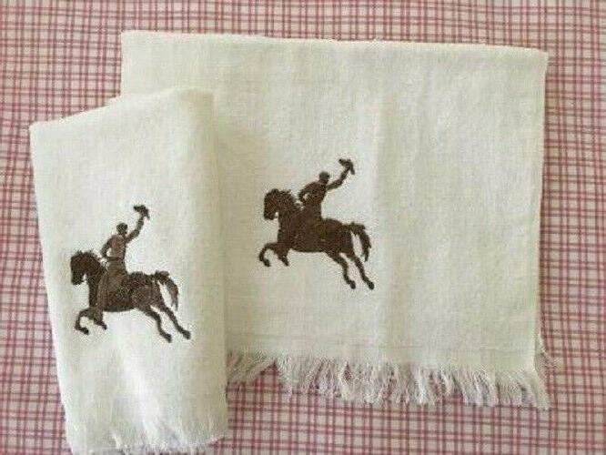 AVANTI WESTERN COWBOY HORSE FRINGE BATH TOWELS SET