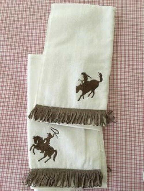 AVANTI COWBOY & HORSE BATH SET NWOT