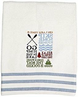 Avanti Linens Lake Words Bath Towel, White