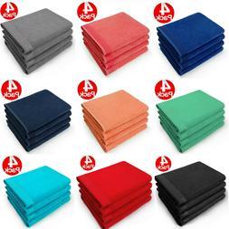 Kaufman - 30 X 60 Soft velour Bath Towel Solid Color-Pool Be