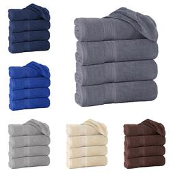 "Pack of 4 Luxury Large Organic Bath Towels 27""x55"" 100% Cott"