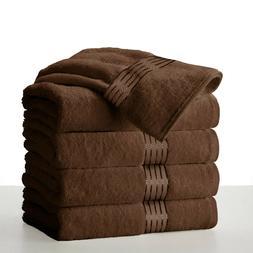 Large Chocolate Dark Brown Bath Towels Pack Set 100% Cotton