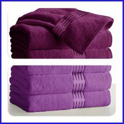 """Large Purple & Plum Bath Towels Pack Set 100% Cotton 27""""x58"""""""