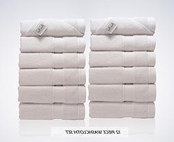 Lint Free 12 Piece Turkish Washcloths Bundles Set Face Bath