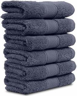 "LOOK!!! Maura 6 Piece Washclothes XL Set! 13""x13"" Premium Tu"