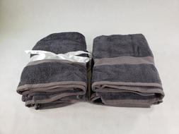 Lot Of 4 Ariv Collection Gray Premium Long Staple Bamboo Cot