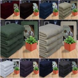 Luxurious 4 Piece Bath Towel Set 100% Combed Cotton for Bath