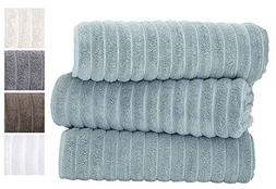 Classic Turkish Towels 3 Piece Luxury Bath Sheet Set - 40 x