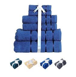 Luxury Bath Towel Set  100% Cotton 700 GSM, 6-Piece Hotel To