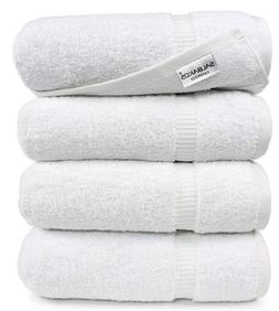 SALBAKOS Luxury Bath Towels - 4-Piece Large White Bathroom H