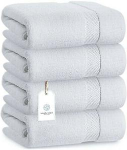 White Classic Luxury Bath Towels - Cotton Hotel spa Towel 27