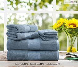 Luxury Bath Towels Sets large 6 Pack Hotel Cotton Towel Set