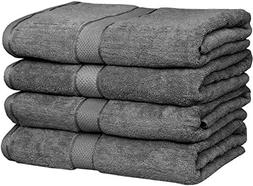 Utopia Towels 30x56 Inches Luxury Cotton Bath Towels, 4 Pack