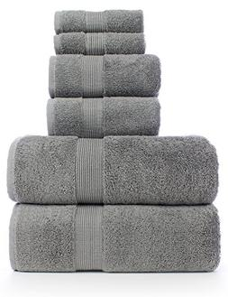 6 Piece Turkish Luxury Turkish Cotton Towel Set - Eco Friend