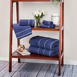 Luxury Cotton Towel Set- Quick Dry, Zero Twist and Soft 6 Pi