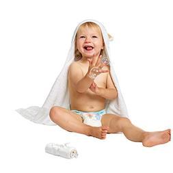 Luxury Hooded Baby Towel and Washcloth Set  | Extra Soft Bam