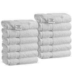 Luxury Hotel & Spa Towel Turkish Cotton Wash Cloth  - Set of