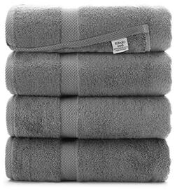 Luxury Premium Turkish Ring-Spun Cotton 4-Piece Bath Towels