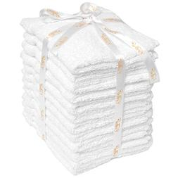 12 Pack Washcloth Set White Cotton Wash Cloths For Kitchen B