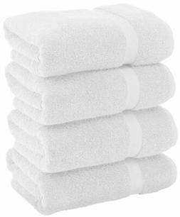 Luxury White Bath Towels Large - Circlet Egyptian Cotton | H