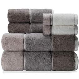 Caro Home Maya Grey 6 Piece Bath Towel Set - 2 Bath Towels 2