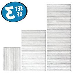 mDesign Soft Microfiber Non-Slip Bathroom Mat/Rug Set for Va