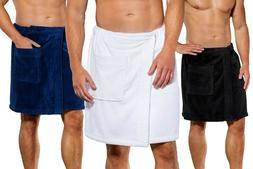 Men's Adjustable Towel Body WRAP for Gym Spa Bath – Made
