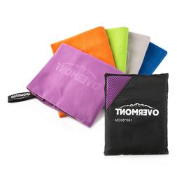 Overmont Microfiber Beach Towels Quick Dry Super Perfect Fas
