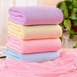 Microfiber Bear Pattern Bath Towels Shower Cloth Dry Body An