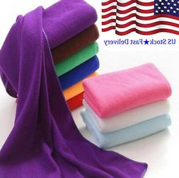Microfiber Fiber Absorbent Beach Drying Cleaning Towels Bath