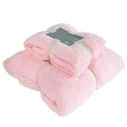 Premium Microfiber Coral Fleece Towel Set,1 Bath Towel and 1