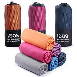 BOGI Microfiber Travel Sports Towel--Antibacterial Dry Fast