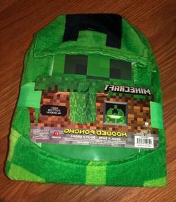 Minecraft Bath Towels Creeper Super Soft Absorbent Kids Bath