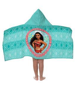 Disney Moana Cotton Hooded Cape Bath/Pool/Beach Towel, Teal