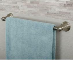 AmazonBasics Modern Towel Bar - Satin Nickel, 18-Inch