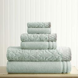 MOROCCAN COLLECTION by PCT 6-Piece Towels Luxury Superior Ab