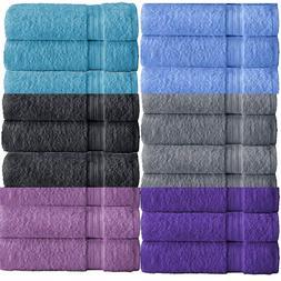 """Multi Color Bath Towels Packs Sets 100% Cotton 27""""x55"""" 450 G"""