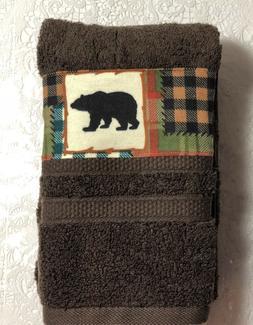 Nature wild animals  Black Bear Kitchen bath home hand towel