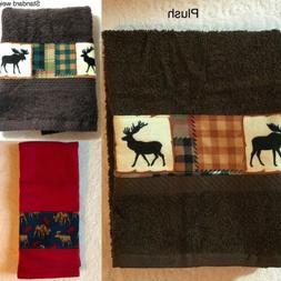 Nature wild animals - Moose - Kitchen bath home decor towel
